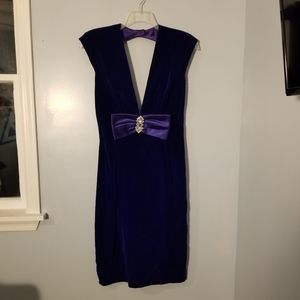 Rampage Vintage Velvet Blue Dress Formal 11/12